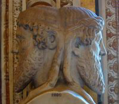 Janus is the god of beginnings and endings, as he looks both to the past and to the future.