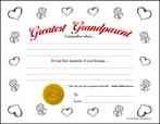 Greatest Grandparent (Color-in Hearts & Flowers)