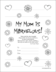 Download My Mom is Marvelous Certificate
