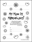 My Mom is Marvelous! (Color-in Border)