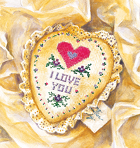 Heart Cushion illustration ©Laurie McGaw from A Little Something by Susan V. Bosak