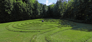Legacy Labyrinth in the Legacy Center Arboretum