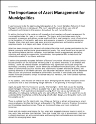 The Importance of Asset Management for Municipalities