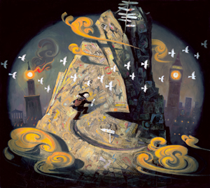 Climbing the Mountain of Life illustration © Shaun Tan from Dream by Susan V. Bosak