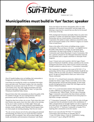 Municipalities must build in 'fun' factor